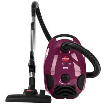 Bissell Zing Bagged Canister Vacuum, Purple, 4122 – Corded
