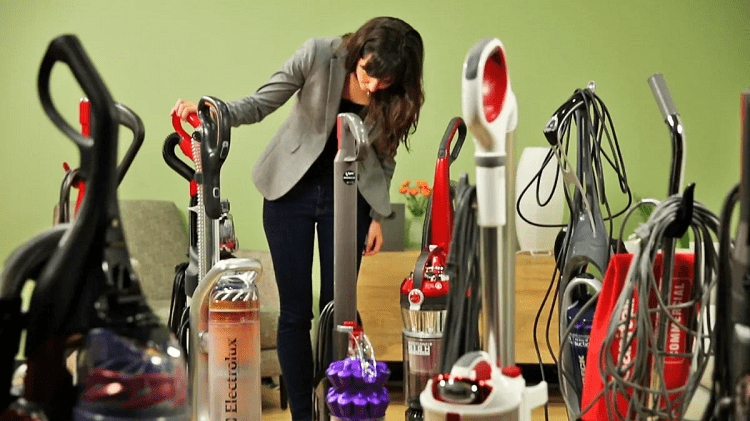 Woman Choosing Vacuum