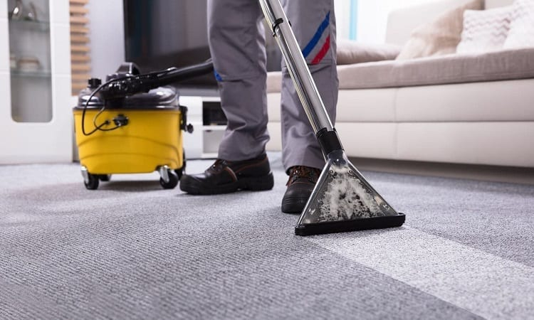 cleaning with a carpet cleaner