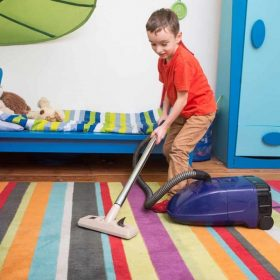 Vacuuming as a Kid's Game